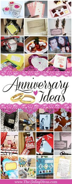 JACKPOT! A whole archive of sweet, sexy, sentimental anniversary ideas! And lots of them come with free printables too. Now THIS will come in handy! From http://TheDatingDivas.com
