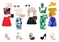 """Crop Top and skirts lady"" by gabiure on Polyvore featuring moda, Madewell, Caroline Constas, Dolce&Gabbana, Clover Canyon, Miu Miu, New Look, Dsquared2, Marchesa y Paula Cademartori"