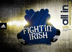 The gloves Notre Dame will wear for tonight's BCS Championship Game