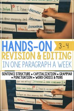 Revising and Editing in one Expository Paragraph a Week Grammar And Punctuation, Grammar Lessons, Writing Lessons, Teaching Writing, Student Teaching, Teaching Ideas, 6 Traits Of Writing, Expository Writing, Paragraph Writing