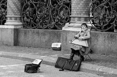Playing music on the streets I by szeniko Street Photography #InfluentialLime