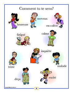 French Emotions Poster - Italian, French and Spanish Language Teaching Posters | Second Story Press