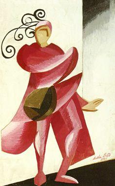 Aleksandra Ekster. Diseño de vesuario para Romeo y Julieta, año 1921.