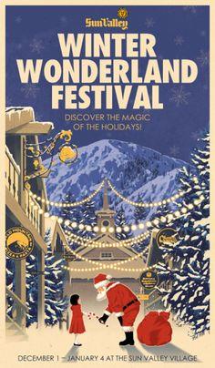 Sun Valley, Idaho vintage Winter Wonderland Festival poster