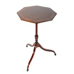 Regency Octagonal Tripod Table