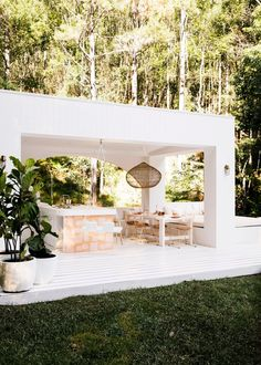 House 10 The Hinterland Hideaway Pool Pavilion. White Exteriors Pavilion Pink Tiles Outdoor Dining House 10 The Hinterland Hideaway Pool Pavilion. White Exteriors Pavilion Pink Tiles Outdoor Dining Click The Link For See