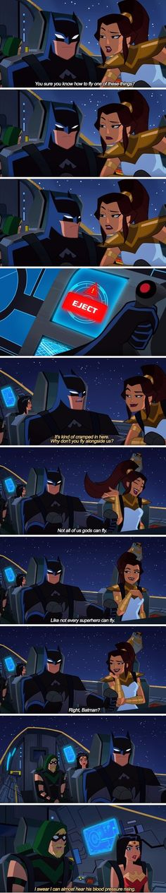 Just eject her, Batman