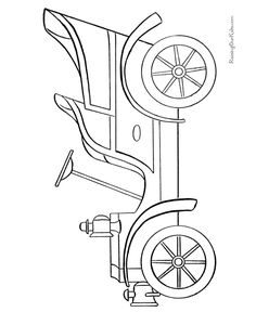 Free printable antique car to color