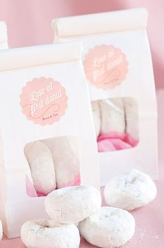 Darling donut favors - YES, please!