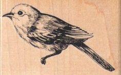 Birds  rubber stamp stamping supplies   number 9475 craft supply scrapbook facing left