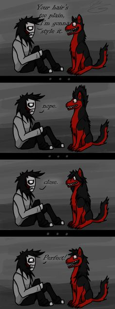 When Jeff met Smile Dog by GingaAkam.deviantart.com on @deviantART