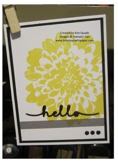 Stampin Up Definitely Dahlia stamp