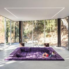 """- Architecture • Design • Tech (@designwanted) on Instagram: """"Do you like conversation pits? ✏️Pam & Paul's house by Craig Steely Arch. #Cupertino, California,…"""""""