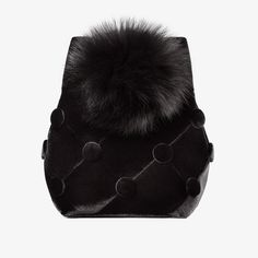 riga designers Laimushka Velvet Bucket Bag with Pom Pom Fashion Bags, Fashion Backpack, Womens Fashion, Stockholm, Ethical Fashion, Handbag Accessories, Bucket Bag, Velvet, Bank Card