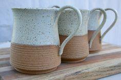 large rustic mug tea mug stoneware coffee cup by earthformsbymarie