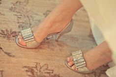 sparkly glitter shoes from BHLDN... yes please!!! // photo by KrashingMotions Photography