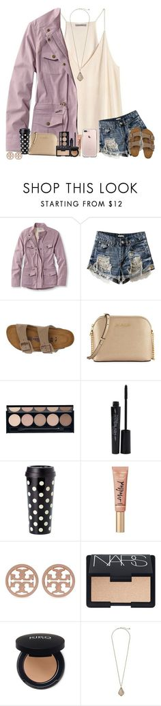 """The Clock Is Ticking, So Stay"" by theafergusma ❤ liked on Polyvore featuring H&M, L.L.Bean, Birkenstock, MICHAEL Michael Kors, Witchery, Smashbox, Kate Spade, Too Faced Cosmetics, Tory Burch and NARS Cosmetics"