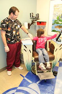 positive distractions for pediatric patients | Pediatric Phlebotomy Chair