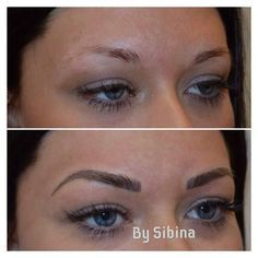 Eyebrow tattoo I want it! It's called micro blading! Mircoblading Eyebrows, Permanent Makeup Eyebrows, Eyebrow Makeup, Beauty Makeup, Hair Makeup, Hair Beauty, Eye Brows, Eyebrow Feathering, Eyebrow Game