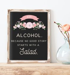 Rustic Wedding Alcohol Sign Printable  by MissDesignBerryInc