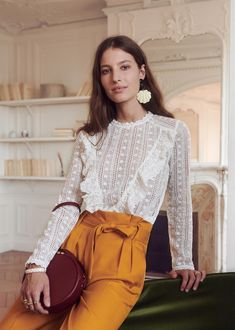15 Edgy Boho Spitzenbluse Outfits - New Sites Spring Work Outfits, Fall Outfits, Casual Outfits, Mode Outfits, Fashion Outfits, Womens Fashion, Fashion Trends, Abaya Fashion, Ladies Fashion