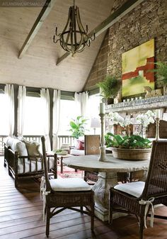 Anne Sherrill, Rusticks, Cashiers, NC...always wonderful design - beautiful porch!