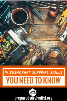 Bushcraft skills use the environment to survive by making shelter, gathering food and defending yourself. It is important as a survivalist to know not only the necessary bushcraft skills but keep learning new skills that you can use to survive the wild. Survival Quotes, Survival Food, Outdoor Survival, Survival Knife, Survival Prepping, Emergency Preparedness, Survival Skills, Survival Hacks, Survival Equipment