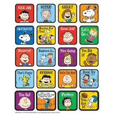 Find the Eureka Peanuts® Motivational Theme Stickers, 12 Packs of 120 at Michaels. The choices are endless with Eureka Peanuts stickers. There are hundreds of ways to utilize this versatile sticker set at home or in the classroom. Reward Stickers, Teacher Stickers, Stickers Online, Teacher Stamps, Snoopy Classroom, Classroom Themes, Bon Point, Simple Reminders, Motivational Phrases