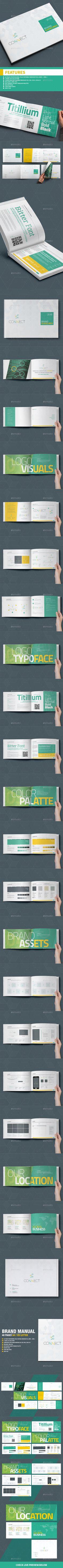 Brand Manual 40 Pages A4 / US Letter — InDesign INDD #bundle #print • Download ➝ https://graphicriver.net/item/brand-manual-40-pages-a4-us-letter/18812486?ref=pxcr