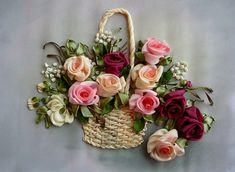 Gallery.ru / Корзинка с розами - Вышивка лентами, часть 2 - silkfantasy