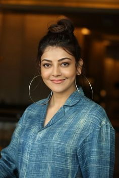 Kajal Aggarwal at Ranarangam Interview HD Gallery, Images South Indian Actress Photo, Indian Actress Photos, Indian Actresses, Hot Hair Styles, Curly Hair Styles, Oversized Hoop Earrings, Great Comebacks, Brunette Beauty, Cute Beauty