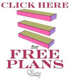 Free Plans Floating Shelves