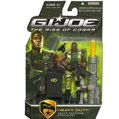 "G.I. Joe The Rise of Cobra 3 3/4"" Action Figure Heavy Duty Heavy Weapons Specialist"