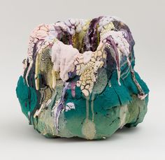 In his debut solo exhibition HotSpots, Brian Rochefort continues his rigorous exploration and investigation of process and material with his craters. Sculpture Clay, Abstract Sculpture, Sculptures, Decay Art, Ceramic Pinch Pots, Growth And Decay, 3d Printer Designs, A Level Art, Process Art