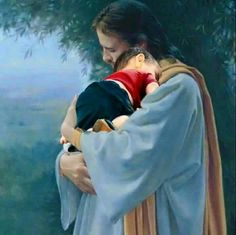 This is how I imagine my two sweet angels with Jesus. 💕 Until we meet again my sweet babies. God and Jesus Christ Pictures Of Christ, Religious Pictures, Religious Art, Christian Images, Christian Art, Image Jesus, Prophetic Art, Jesus Art, Jesus Is Lord