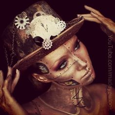 Steam punk Halloween Makeup !