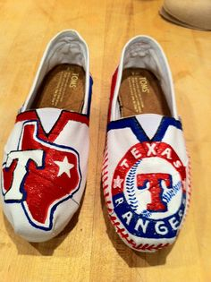 Texas Rangers Toms Shoes by sbuch68 on Etsy, $88.00