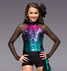 """Skyscraper"" Girls Unitard Costume - Style Number: TH5043C"