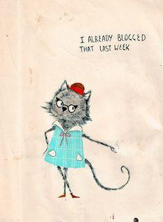 Matt Saunders Illustration | Hipster-cat