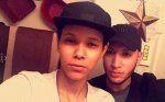 A snapchat selfie of Kaliesha Andino, 19 (left), with Luis Omar Ocasio-Capo, 20 taken on June 12, 2016. Courtesy of Kaliesha Andino