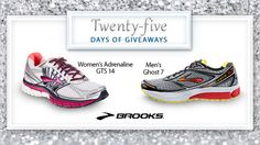 Welcome to day 5 of #25DaysofGiveaways!  Brooks shoes are made for the best possible running and walking experience. Win a pair for yourself by entering here.