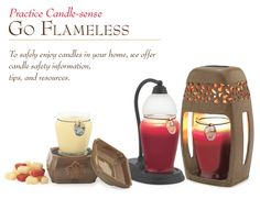 I love the idea of flameless candle warmers.  I've been using them for a couple of years now and my house always smells good!,