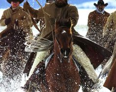 Horses, cowboys, snow. What's not to love?