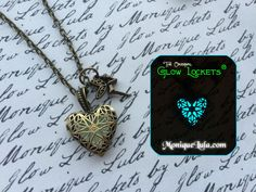 Glowies.net - Heart of the Fairy Glow Locket Steampunk Magic Wings