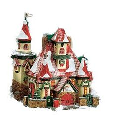 Amazon.com: Dept 56 North Pole Series: Route 1, North Pole, Home Of Mr. & Mrs. Claus: Home & Kitchen