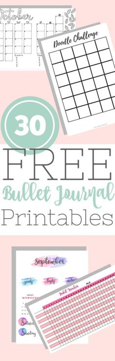 Check out this Epic List of 30 Free Bullet Journal Printables!