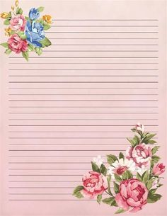 Stationary Printable Free, Printable Lined Paper, Printable Crafts, Free Printables, Printable Vintage, Lined Writing Paper, Stationery Craft, Vintage Paper, Scrapbook Paper