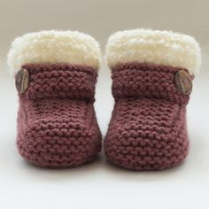 Hand+Knitted+Baby+Booties-Shoes £5.75