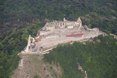The Visegrad castle from the air - Hungary