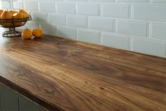Acacia wide plank Butcher block counter top - I think this is our top pick for counters with silestone in second